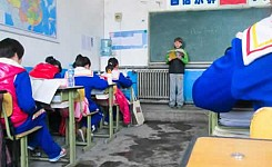 China_classroom_students_volunteer_kid_reading