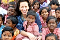 On a trip to India, Caroline Boudreaux saw firsthand the poor condition of children in orphanages and returned to Austin, Texas, to start The Miracle Foundation. 'I knew I had to do something,' she says. 'I knew in my heart that I had a higher purpose that I wasn't fulfilling.'