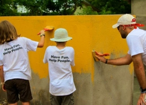 Volunteers in Ghana